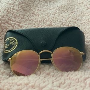 Authentic Round Flat Ray Ban Sunglasses